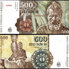 500 LEI 1991 aprilie UNC necirculata - Bancnota romaneasca