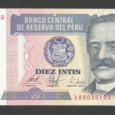 PERU 10 INTIS 1987, UNC [1] P- 129, necirculata - bancnota america