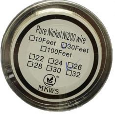 Nickel Coil Ni200 sarma rezistente 0.25mm - 10 metri