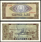 ROMANIA 5 LEI 1966 UNC NECIRCULATA