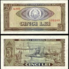 ROMANIA 5 LEI 1966 UNC NECIRCULATA - Bancnota romaneasca