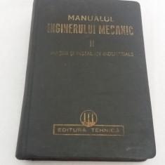 MANUALUL INGINERULUI MECANIC /MAȘINI ȘI INSTALAȚII INDUSTRIALE/VOL. II /1950