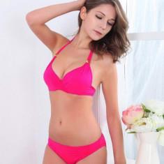 Costum de baie Victoria's Secret roz / albastru, Marime: S, M, L, Doua piese
