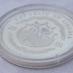 Argint colectie Legends of the Rails moneda 20 Dolari Liberia 2001 in Capsula, Africa