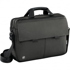 Geanta laptop Wenger Route 16 inch Messenger black, Nailon, Negru