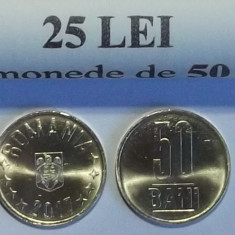 ROMANIA 50 BANI 2017 UNC - LUCIU DE MONETARIE - DIN FISIC DE BANCA ** - Moneda Romania