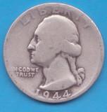 (8) MONEDA DIN ARGINT SUA - QUARTER DOLLAR 1944, LIT. D, WASHINGTON, 6.25 g, America de Nord