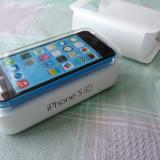 iPhone 5C Apple 16 GB, sigilat, cu factura, Albastru, Neblocat