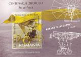 AVIATIE,BREVET DE INVENTATOR TRAIAN VUIA,BLOC ,2006,MNH ROMANIA ., Nestampilat