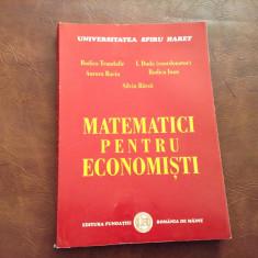 Universitatea Spiru Haret - Matematici pentru economisti !