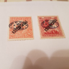 Romania/debrecen 1919 supratipar/ mi 62;64 - Timbre Romania, Nestampilat