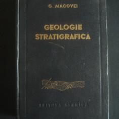GHEORGHE MACOVEI - GEOLOGIE STRATIGRAFICA - Carte Geografie