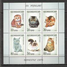 Azerbaidjan.2010 Rase de pisici-Bl.  SA.719