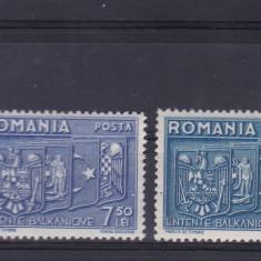 ROMANIA 1938 LP 123 INTELEGEREA BALCANICA SERIE MNH - Timbre Romania, Nestampilat