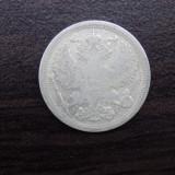 Moneda argint Rusia 20 kopek 1893, Europa