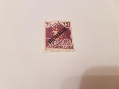 romania/debrecen 1919 supratipar/ carol si zita/ 15f foto