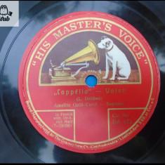 Amelita Galli Curci muzica de opera disc patefon gramofon v repertoriul in foto! - Muzica Opera, Alte tipuri suport muzica