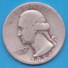 (3) MONEDA DIN ARGINT SUA - QUARTER DOLLAR 1944, LIT. S, WASHINGTON, 6.25 g, America de Nord