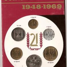 ISRAEL SET MONEDE AGOROT LIRA 1969 UNC, Europa, An: 2008, Cupru-Nichel