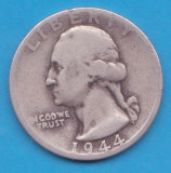 (2) MONEDA DIN ARGINT SUA - QUARTER DOLLAR 1944, LIT. D, WASHINGTON, 6.25 g, America de Nord