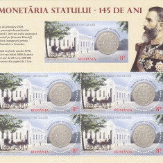 MONETARIA STATULUI, BLOC, 2015, MNH ROMANIA . - Timbre Romania, Nestampilat