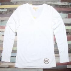 Bluza MICHAEL KORS - Bluze Dama, Femei - 100% AUTENTIC - Bluza dama Tommy Hilfiger, Marime: S, Culoare: Alb, Maneca scurta, Casual, Bumbac