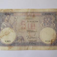 Romania 5 Lei 25 Martie 1920 - Bancnota romaneasca