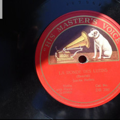 Jascha Heifetz disc patefon gramofon v repertoriul in foto! - Muzica Clasica, Alte tipuri suport muzica