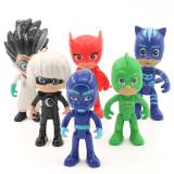 Set jucarii Eroi in Pijama Pj Mask, Pisoi Catboy, Bufniță Owlette și Șopi Gecko - Figurina Animale