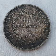Moneda argint 10 Franci Franta 1970 25 grame purittate 900/1000, Europa