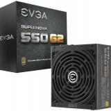 PSU EVGA SuperNOVA 550 G2 550W, 80 PLUS Gold, Full modular, 140mm, 7YLW - Sursa PC