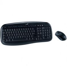 Kit tastatura + mouse Genius KB-8000X, wireless, negru, 2.4Ghz, 1200dpi optical mouse, USB