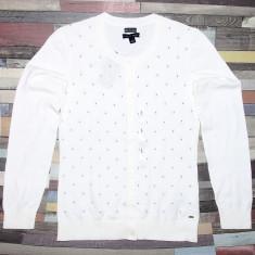 Bluza Cardigan TOMMY HILFIGER - Bluze Dama, Femei - 100% AUTENTIC - Pulover dama Tommy Hilfiger, Marime: S, M, L, Culoare: Alb, Bumbac
