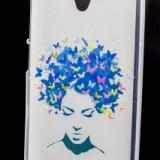 Husa plastic siliconat Design Butterfly Girl Lenovo Vibe C / A2020 - Husa Telefon