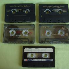 Lot 5 Casete Audio TDK, SONY, EMTEC si BASF - 4