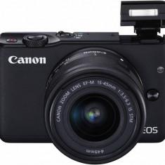 Kit aparat foto Canon EOS M10 (cu obiectiv 15-45mm), negru - Aparat Foto compact Canon