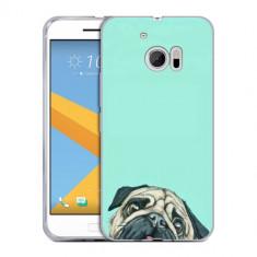 Husa HTC 10 Silicon Gel Tpu Model Curious Pug - Husa Telefon