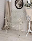 BANCUTA SHABBY CHIC DIN FIER FORJAT ANTIK WHITE AJA041