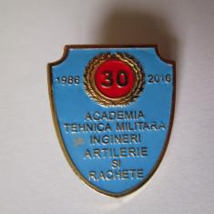 Insigna Academia Tehnica Militara ingineri artilerie si rachete 1986-2016