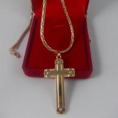 Lant Barbati/Unisex cruciulita dublu placat aur rosu 24K Cod produs: LT 3 - Lantisor placate cu aur, 18k