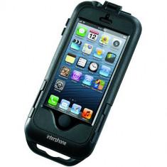 Husa cu Suport iPhone 5 Moto & Bike Negru - Dock telefon