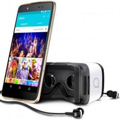 Telefon Mobil Alcatel Idol 4 Dual Sim 4G Gold + VR - Telefon Alcatel