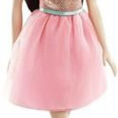 Papusa Barbie Doll Glitz Dress Black Hair Mattel