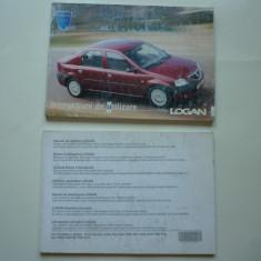Lot manual carte auto Instructiuni utilizare si Manual utilizare Dacia Logan ! - Manual auto, Carte tehnica