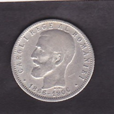 Regalitate Carol I 1 leu 1906 moneda comemorativa argint 5 gr 835 - Moneda Romania
