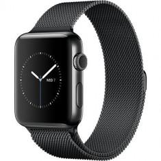 Watch 2 Otel Inoxidabil Negru 42MM Si Curea Magnetica Milanese - Smartwatch Apple