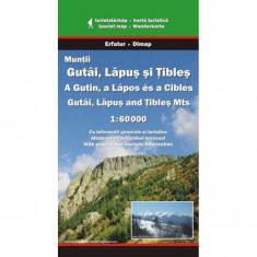 Dimap Harta Turistica Muntii Gutai, Muntii Lapus, Muntii Tibles foto