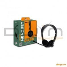 Headset CANYON CNR-FHS04 (20Hz-20kHz, Ext. Microphone, Cable, 2.3m) Black, Ret. - Casca PC