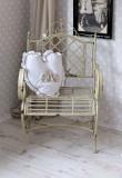 BANCUTA SHABBY CHIC DIN FIER FORJAT ANTIK WHITE AJA044