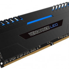 Memorie RAM Corsair, DIMM, DDR4, 32GB, 3000MHz, 15-15-15-36, kit 2x16GB, Vengeance LED Blue, XMP2.0,